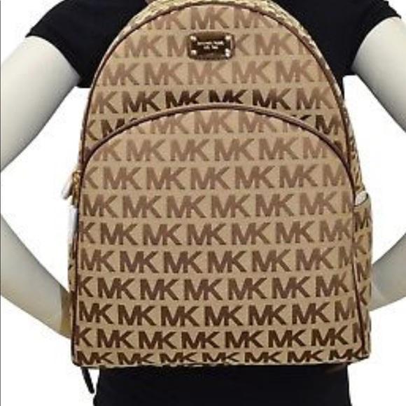 348 NEW Michael Kors Signature Large Backpack. 4ee927354bab8